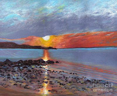 Winter Sunset Centre Island Beach Art Print