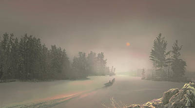 Digital Art - Winter Sunset by Igor Zenin