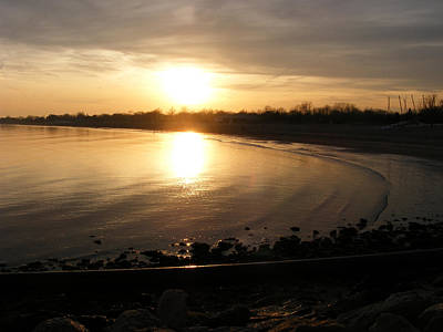 Photograph - Winter Sunset In New England by Margie Avellino