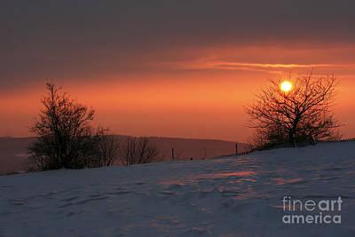 Winter Sunset Art Print by Michal Boubin