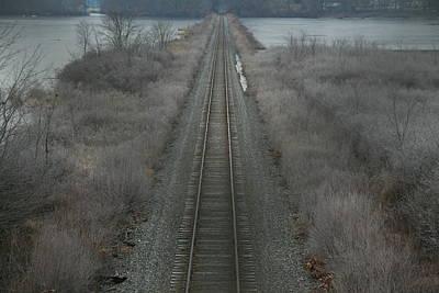 Winter Tracks  Art Print by Neal Eslinger