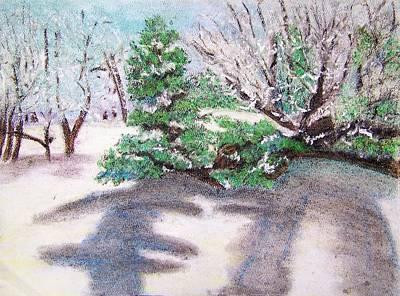 Winter Trees Art Print by Katina Cote