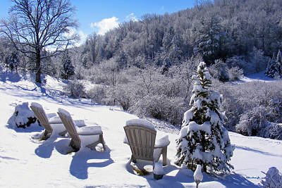 Photograph - Winter Valley Chairs by Duane McCullough