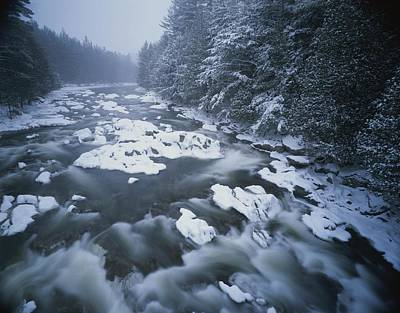 Winter View Of The Ausable River Art Print by Michael Melford