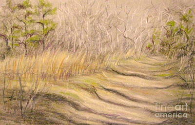 Pastel - Winter Walk by Gretchen Allen
