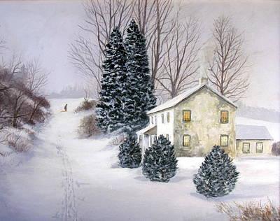 Painting - Winter Weidasville by Milan Melicharek