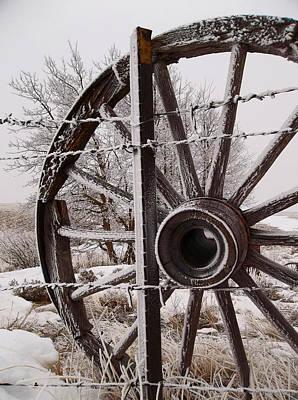 Winter Wheel Print by Wesley Hahn