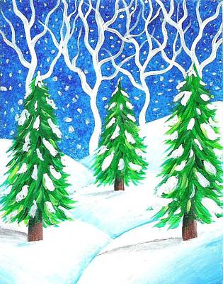Hollywood Style - Winter Wonderland by Oddball Art Co by Lizzy Love