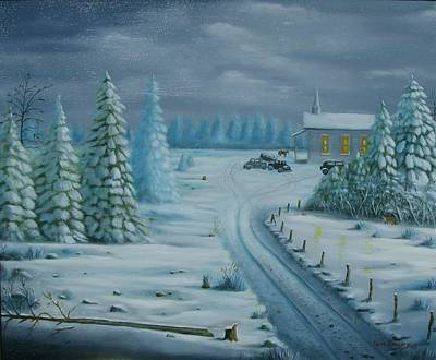Painting - Winter Worship  by Gene Gregory