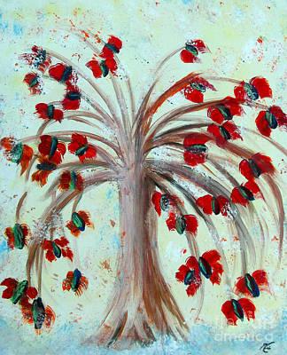 Megacosm Painting - Winterblooms by Ayasha Loya