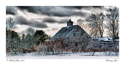 Wintering Barn Art Print by Richard Bean