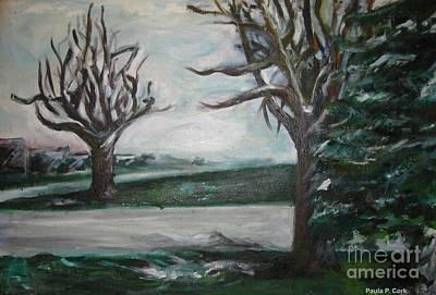 Winterland Slumber Art Print by Paula Cork
