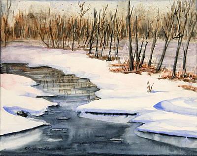 Kristine Painting - Winters Delight by Kristine Plum