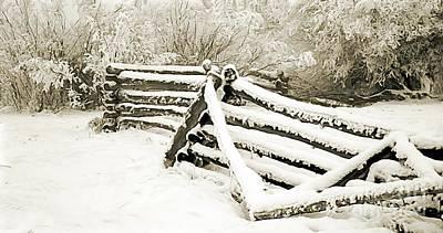 Broken Fence Original by Roland Stanke