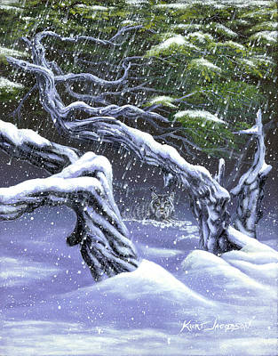 Art Print featuring the painting Winters Ghost by Kurt Jacobson