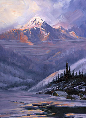 Art Print featuring the painting Winters Kiss by Kurt Jacobson