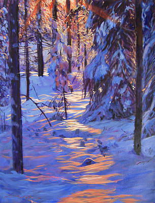 Painting - Winter's Light by David Lloyd Glover
