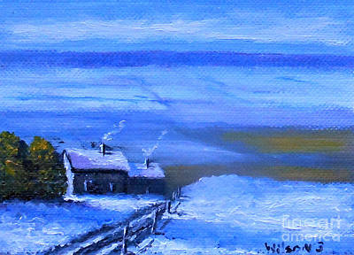 Painting - Winters Morn by Fred Wilson