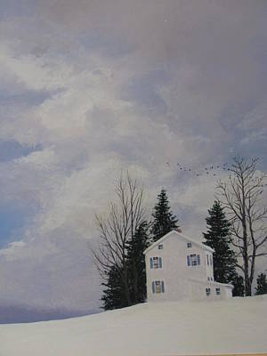 Painting - Winterscape by Milan Melicharek