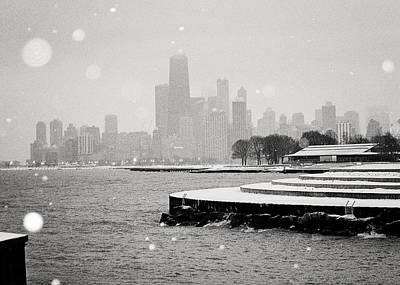 Photograph - Wintery Chicago by Laura Kinker