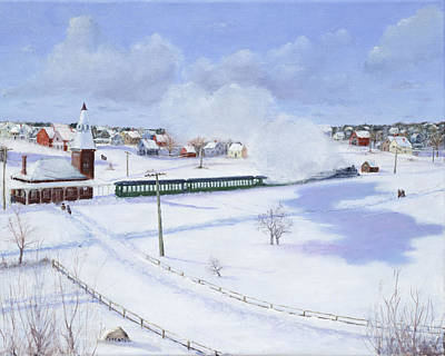 Winthrop Center Station   The Narrow Gauge  1888 Original by Mark Pimentel