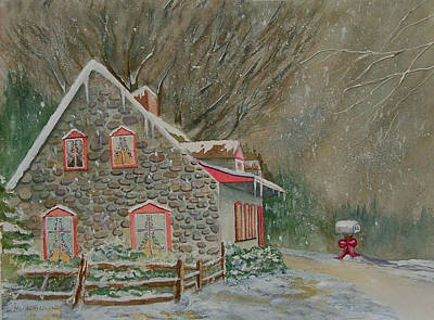 Painting - Wintry Night by Heidi Patricio-Nadon