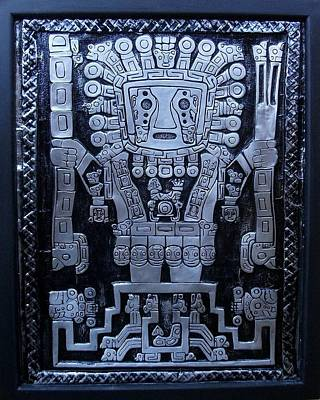 Metal Embossing Relief - Wiracocha The Creator by Cacaio Tavares