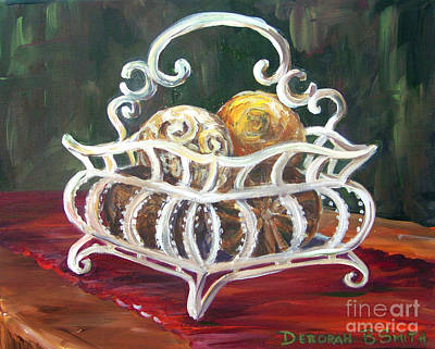 Painting - Wire Basket by Deborah Smith