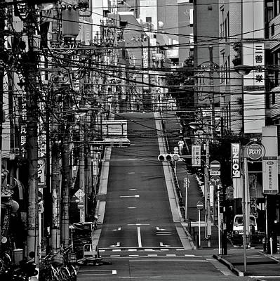 Markings Photograph - Wire Street In Yushima by Sinkdd