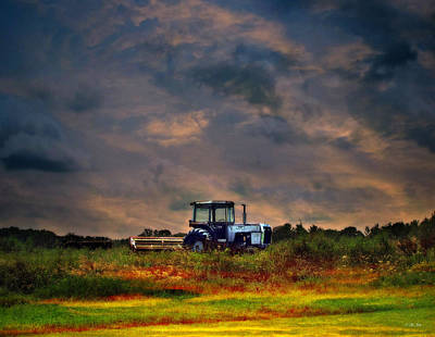 Photograph - Wisconsin Landscape White Tractor by Ms Judi