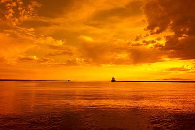 Easter Egg Hunt Rights Managed Images - Wisconsin Point Sunrise 1 F Royalty-Free Image by John Brueske