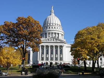Photograph - Wisconsin State Capitol Building by Keith Stokes