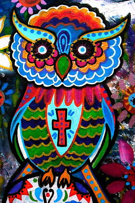 Painting - Wise Owl by Pristine Cartera Turkus
