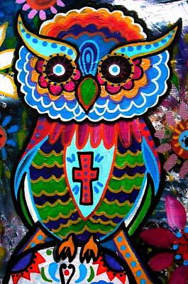 Painting - Wise Owl by Pristine Cartera Turkus