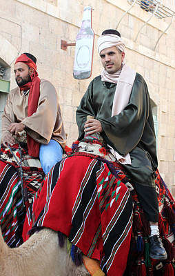 Wisemen On Their Camels Original by Munir Alawi
