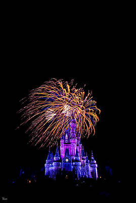 Photograph - Wishes Fireworks Display At Cinderella Castle by Jason Blalock