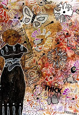 African-american Mixed Media - Wishing For Freedom Like Yours My Friend by Angela L Walker