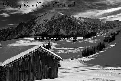 Wishing You A Merry Christmas Austria Europe Art Print by Sabine Jacobs