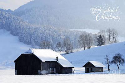 Wishing You A Wonderful Christmas Print by Sabine Jacobs