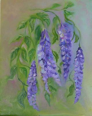 Art Print featuring the painting Wisteria by Carol Berning
