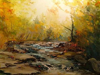 Painting - Wistful Waters by Sarah Jane Conklin