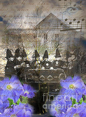 Digital Art - Witch Tea Party by Ruby Cross