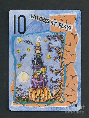 Mixed Media - Witches At Play by Ruby Cross
