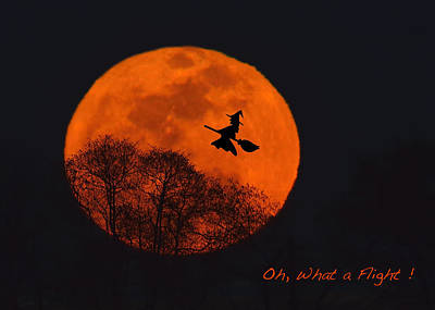 Witchy Moon Art Print by William Jobes