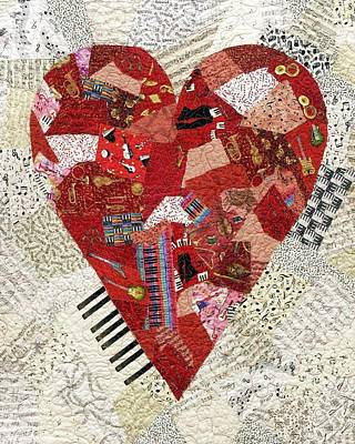 Tapestry - Textile - With A Song In My Heart by Loretta Alvarado