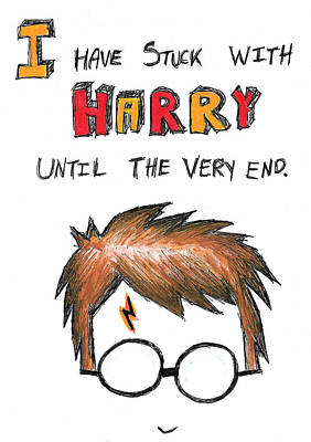 With Harry Until The Very End Art Print by Jera Sky