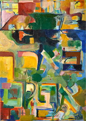 Acquired Painting - With Patience by David Baruch Wolk