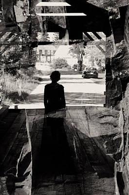 Within A Covered Bridge Art Print by Joseph Duba