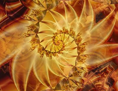 Digital Art - Within The Sun by Connie Dye