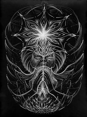 Visionary Art Drawing - Withinfinite Gratitude by Jerod  Kytah